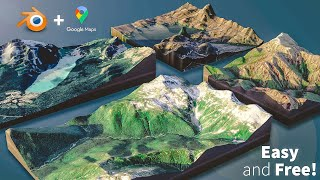 How to Create 3D Terrain with Google Maps and Blender! screenshot 2