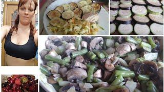 Заготовка еды. Правильное питание. Готовлю грибы, баклажаны, кабачки