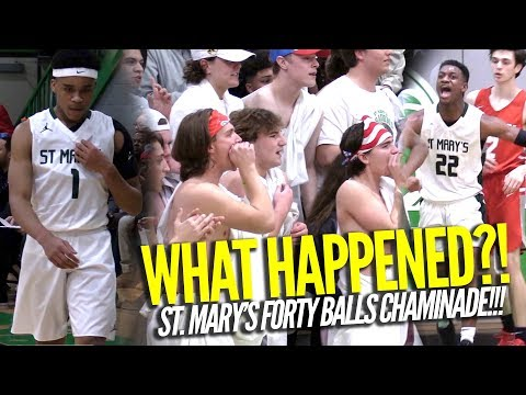 BIGGEST UPSET OF 2018!!! Yuri Collins and St. Mary's Forty Ball Chaminade | Raw Highlights