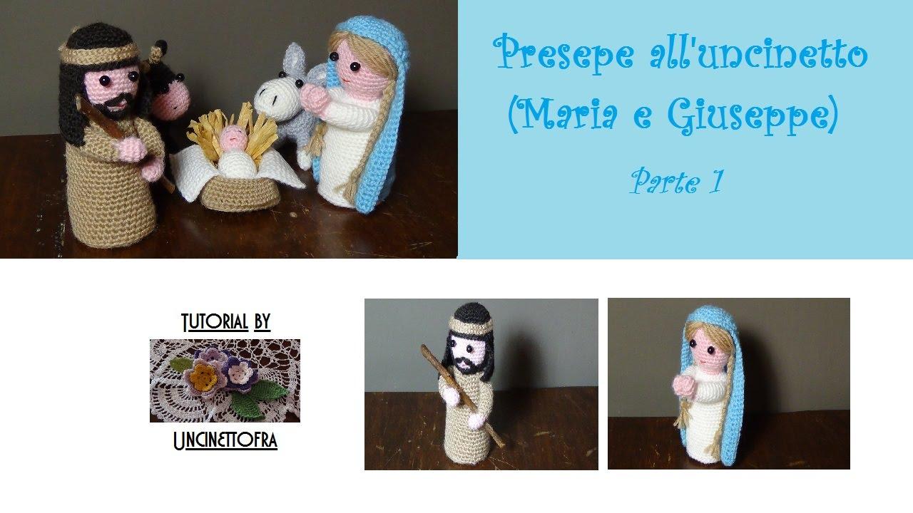 Ben noto Presepe all'uncinetto tutorial (Maria e Giuseppe) parte 1 - YouTube PK77