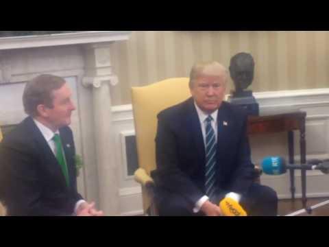 Taoiseach Enda Kenny meets Donald Trump