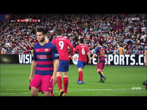 FIFA 16 - UEFA Champions League - FC Barcelona vs Atlético Madrid | Gameplay (HD) [1080p60FPS]