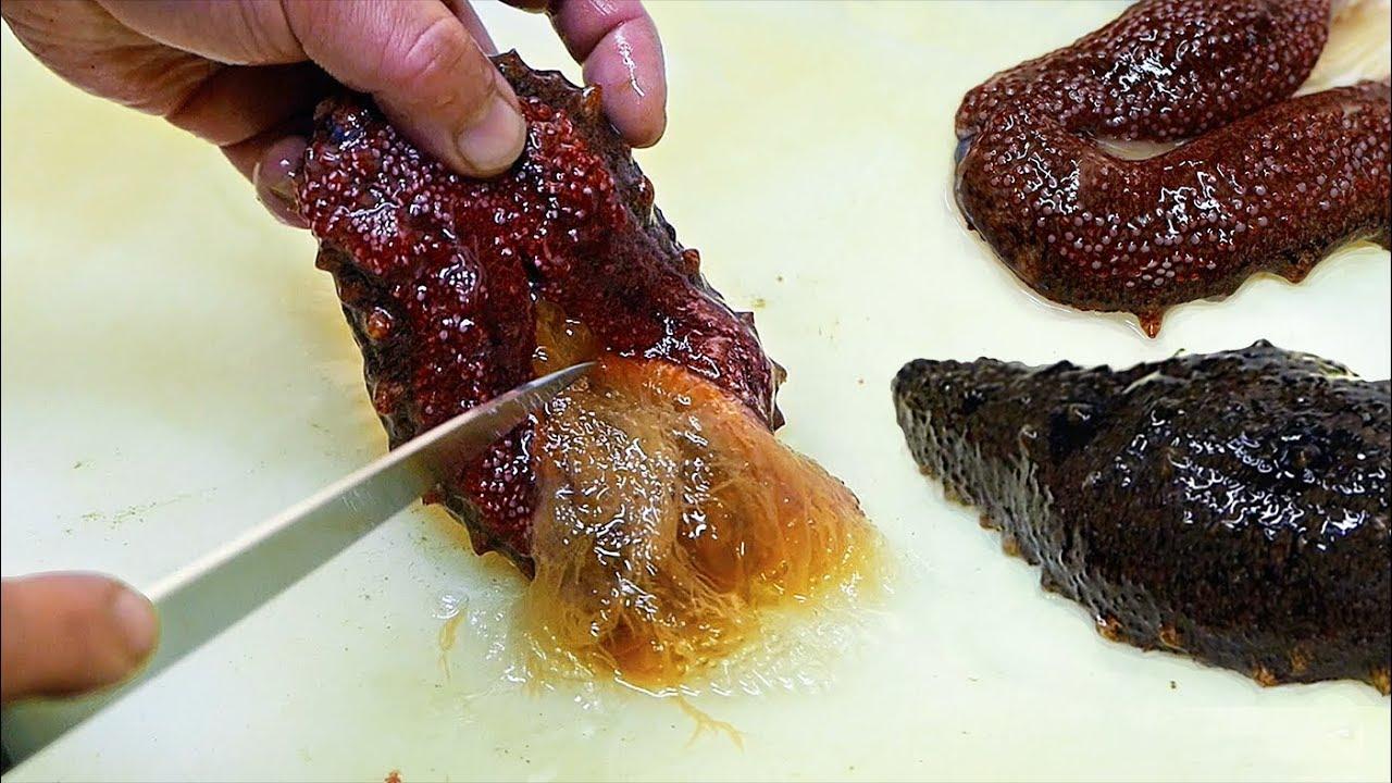 Japanese Street Food - RED SEA CUCUMBER Seafood Japan