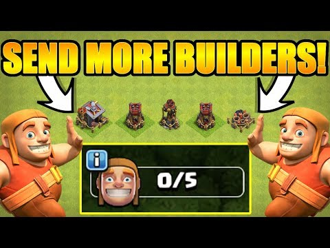 WE ARE ALL OUT OF BUILDERS SEND HELP! - Clash Of Clans