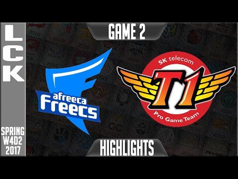 Afreeca Freecs vs SKT Game 2 - LCK W4D3 Spring 2017 - AF vs SKT G2