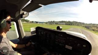 Cessna C172 Take Off and Landings ATC Audio Virb Elite HUD part 1