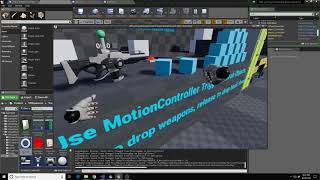 using thumbstick locomotion with the standard vr template unreal