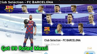 Fc barcelona club selection pack opening in pes 2020 mobile || galaxy