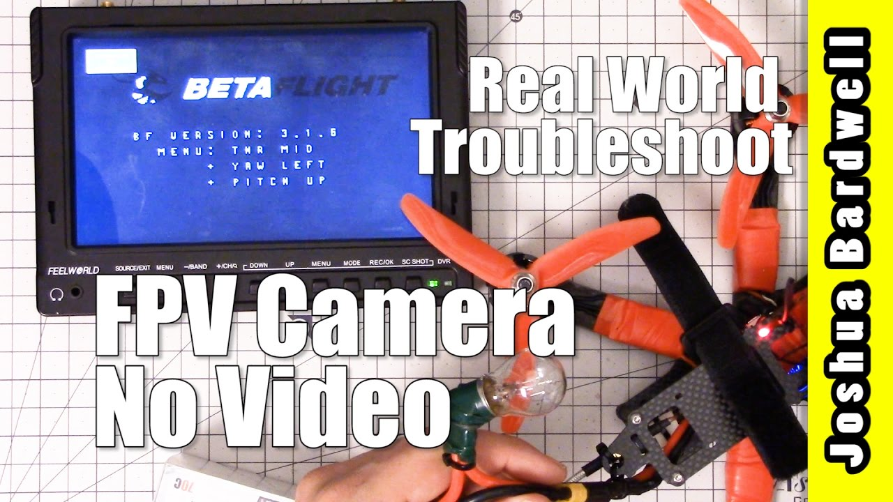 FPV Camera Black Screen | REAL WORLD TROUBLESHOOT