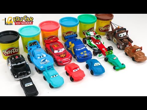 Thumbnail: Learning Color Number with Special Disney Pixar Cars Lightning McQueen Playdoh for kids car toys