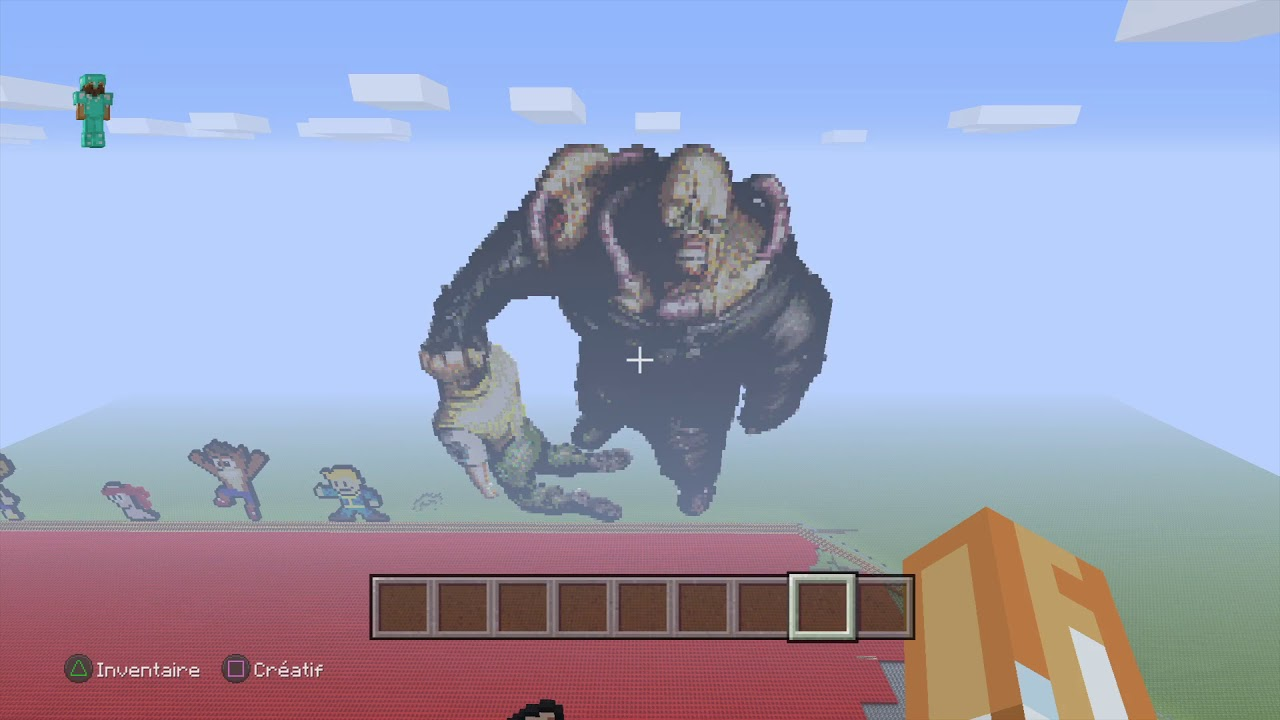 Minecraft Pixel Art Nemesis Taille Xxl Youtube