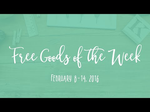 6 Free Design Goods Roundup - Week of February 8, 2016
