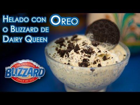 Helado Facil y Rapido con Oreos o Blizzard de Dairy Queen