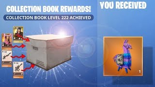 Fortnite Collection Book All Rewards Level 201 to 230 Legendary Llama