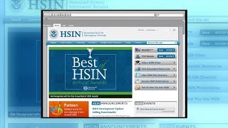 Using The Homeland Security Information Network (HSIN)