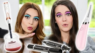 Download Testing Fun Beauty Gadgets w/ My Sister! Mp3 and Videos