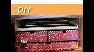 Diy - Boite en carton avec tiroirs