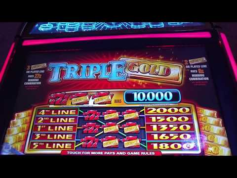 Triple Gold slot machine at Treasure Island casino