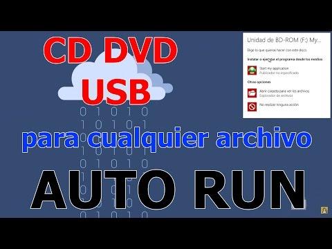 COMO HACER UN DVD, CD O USB AUTOEJECUTABLE (AUTORUN) PARA CUALQUIER ARCHIVO 2017