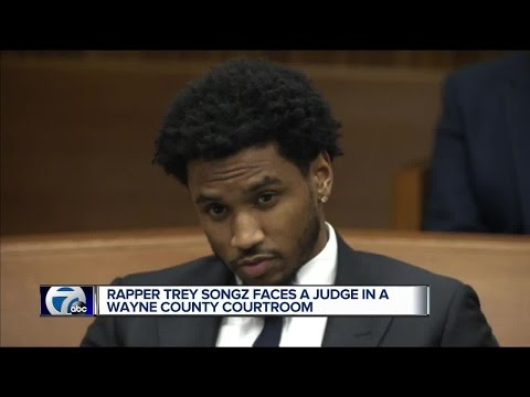 Rapper Trey Songz faces a judge in a Wayne County courtroom