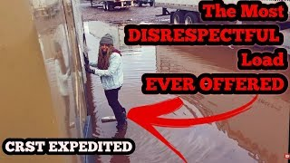 The Most Disrespectful load ever offered | crst expedited lease OPERATORS | rookies