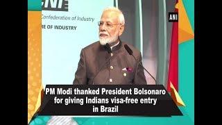 PM Modi thanked President Bolsonaro for giving Indians visa-free entry in Brazil