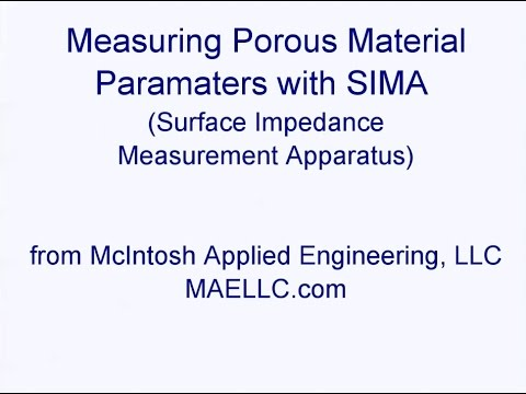Measuring the Acoustical Properties of Porous Material using SIMA