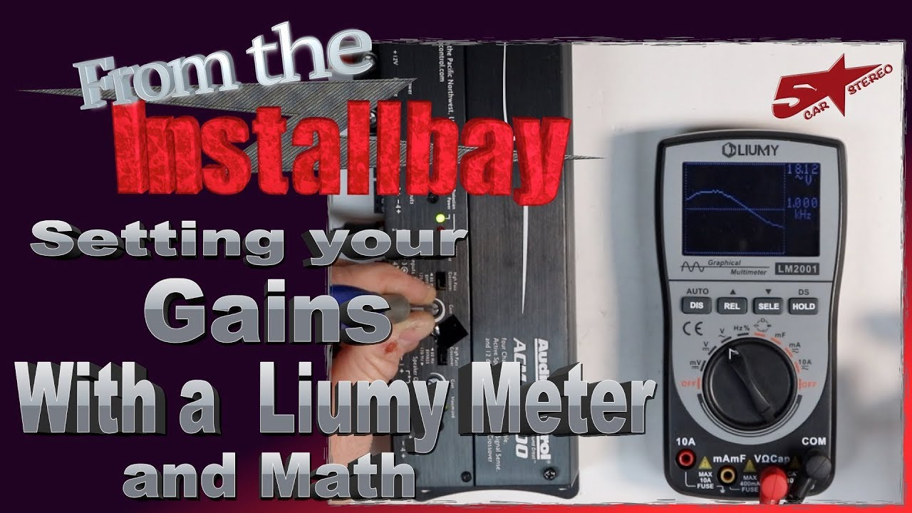 How to set your Amp gains with the Liumy Oscilloscope Multi Meter