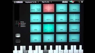 Motif XF : logiciel ipad Arp & Drum pad