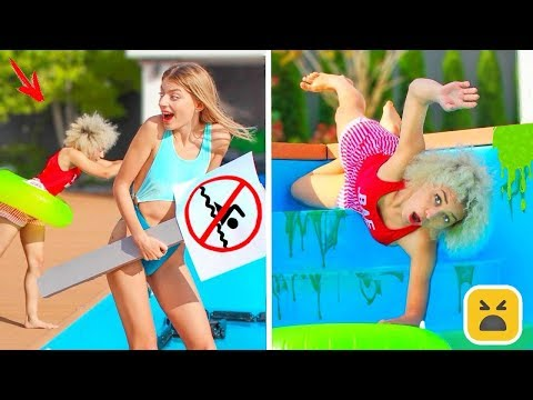 FUNNY POOL PRANKS! Simple Pranks On Friends & Family!