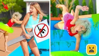 FUNNY POOL PRANKS! Simple DIY Pranks on Friends & Family!