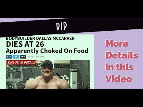 SHOCKING DEATH of top Bodybuilder- Dallas McCarver |STEROIDS may KILL you!!