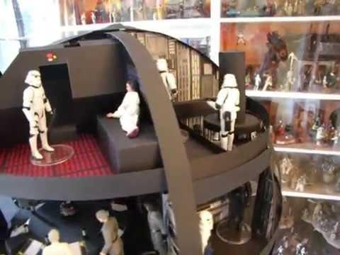 Custom Star Wars Death Star Diorama with Kenner Action Figures Clone Vintage