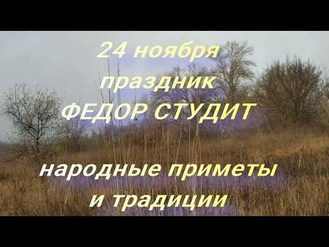 24 ноября праздник Фёдор Студит . Народные приметы и традиции