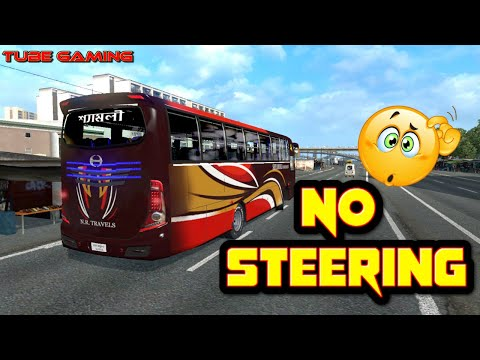 Dangerous Bus Driving By Shyamoli Without Steering   ETS2 Roughest Bus Driving Ever