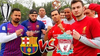 BARCELONA vs LIVERPOOL FUßBALL CHALLENGE | CHAMPIONS LEAGUE