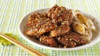 How To Make Sesame Seeds Crusted Chicken Teriyaki (no Alcohol Recipe) ヘルシー胡麻チキン照り焼き レシピ