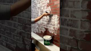 Faux Brick Wall with DAP Spackling Paste