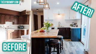 DIY KITCHEN RENOVATION with incredible BEFORE & AFTER makeover