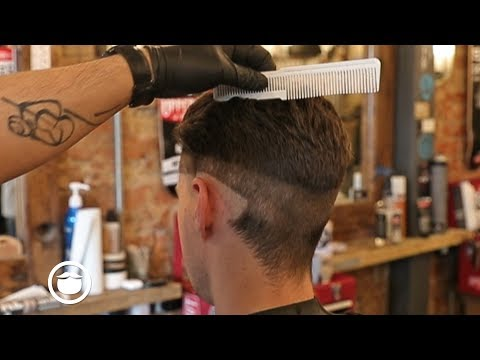 60's Style Slicked Back Fade