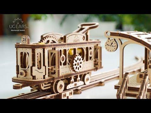 Ugears Tram Line Model. Mechanical Town Series