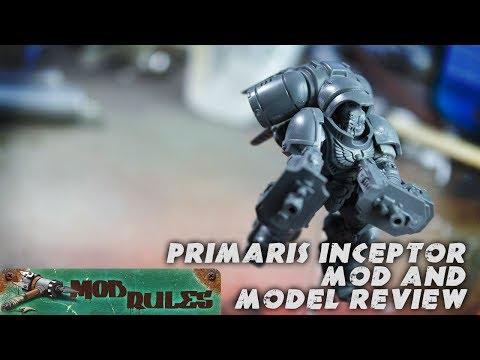 Model Review: Space Marine Primaris Inceptor w/ light kit-bash