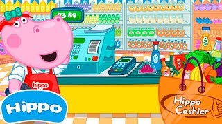 Hippo 🌼 Children's store 🌼 Supermarket Cashier 🌼 Cartoon game for kids