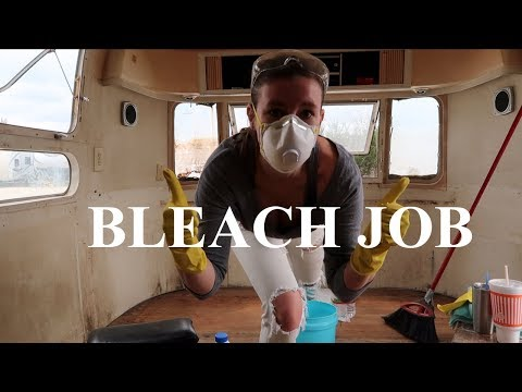 Living in an Airstream - Bleaching the Interior Walls - Journal 12 - S2E41