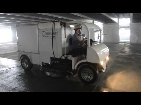 Contract Sweepers & Equipment: Cyclone Parking Garage Cleaning