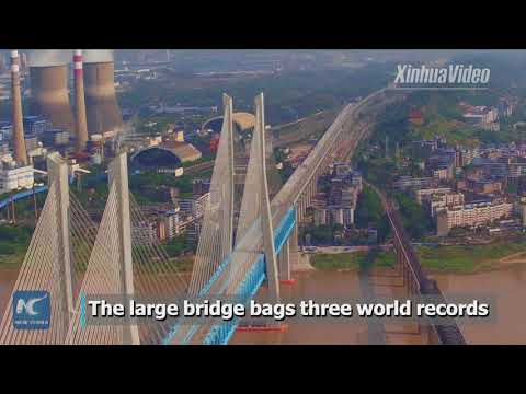 Boasting 3 world records! A new railway bridge over China's Yangtze to be completed soon