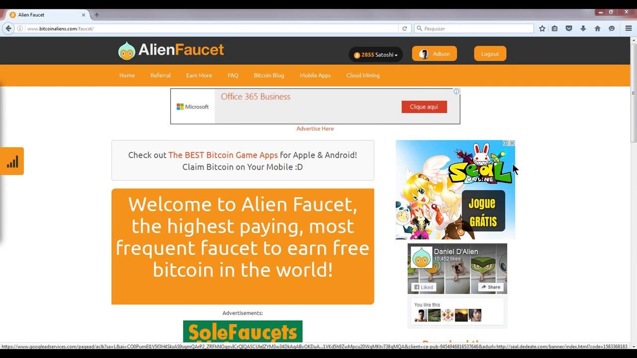 Bitcoin Alien Faucet ! - YouTube