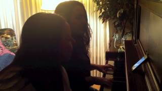 """Me+Cousin singing """"Say Something"""" by A Great Big World ft. Christina Aguilera (Duet Cover)"""