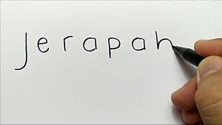 HEBAT, cara menggambar JERAPAH dengan kata jerapah