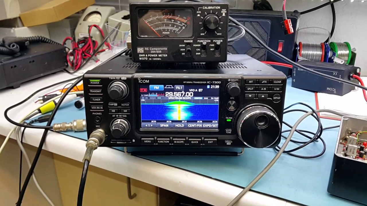 QSO on 70cm FM using my modded Icom IC-7300